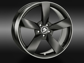 Ultra Wheels UA5 Black Rim Polished © GT-Automotive GmbH & Co. KG