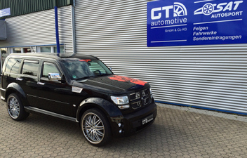dodge-nitro-22-zoll-alufelgen © GT-Automotive GmbH & Co. KG