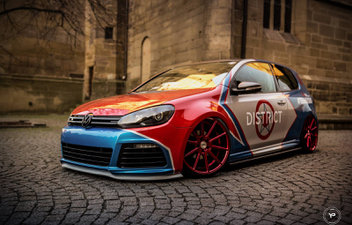 vp1-candy-red-vw-golf © GT-Automotive GmbH & Co. KG